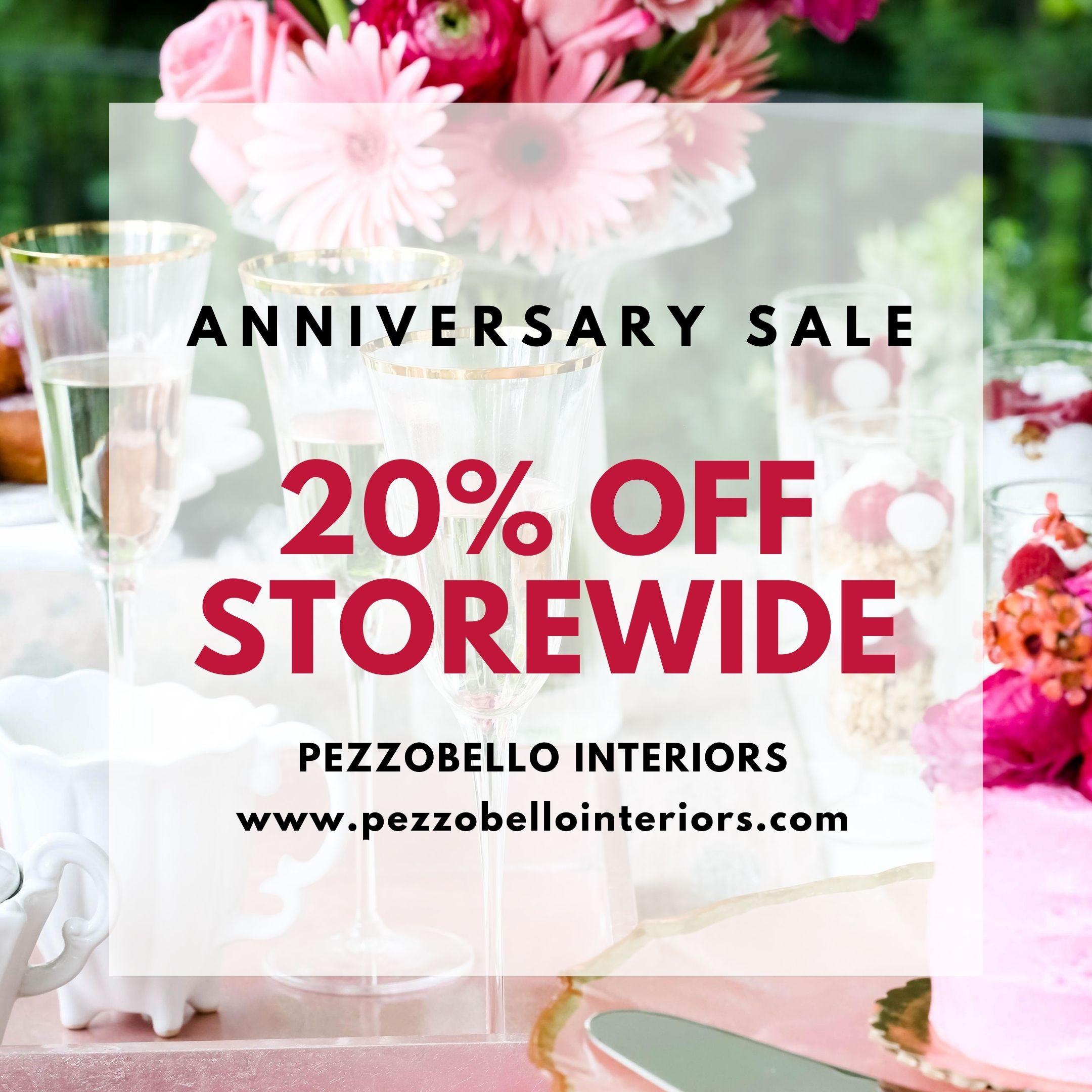 Pezzo Bello Interiors Luxury Home Decor - Anniversary Sale - 20% Off Storewide